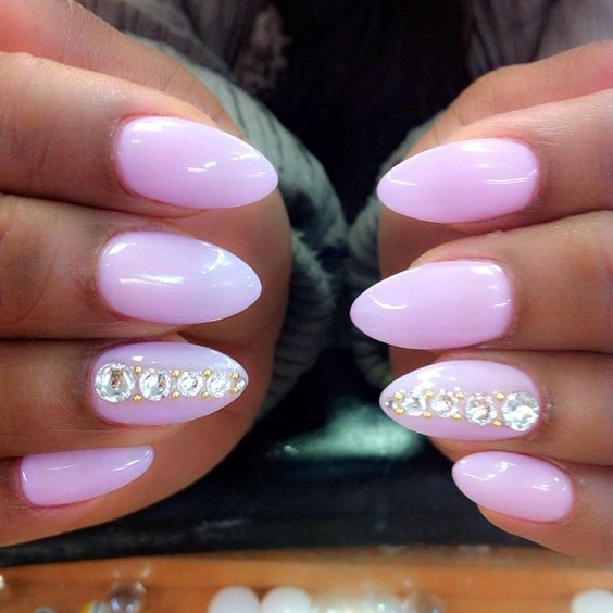 Pink Lilac Dope Nails of the Day