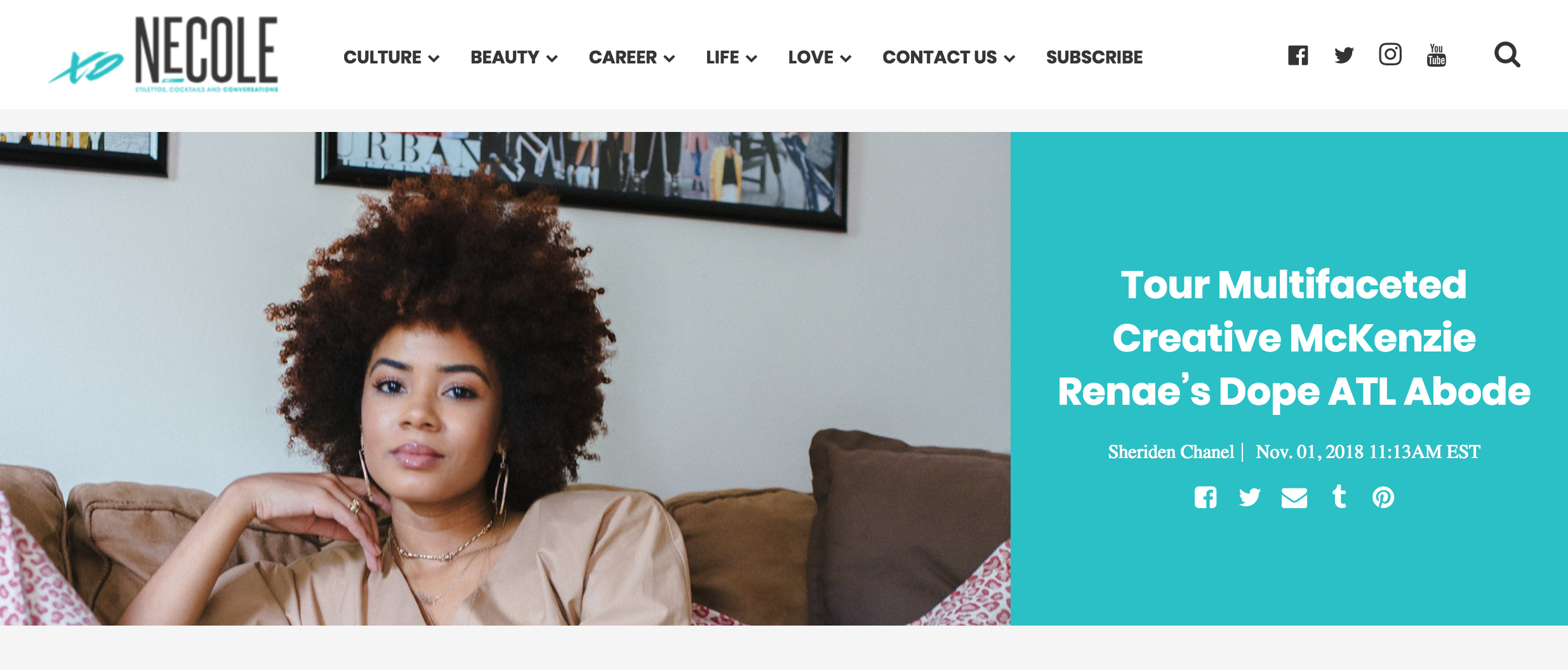 My Home Feature on xoNecole